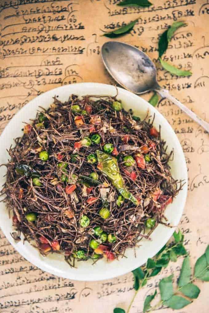 Ragi Vermicelli Recipe, How to make Ragi Vermicelli or Ragi Semiya Upma