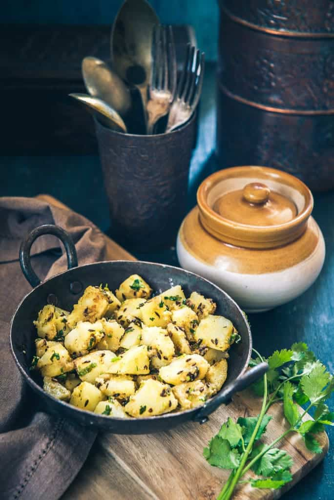 Spiced up with fresh nutmeg powder, fennel powder, coriander powder, Rajasthani Jaiphali Aloo symbolizes the power packed motley of masalas and potatoes.