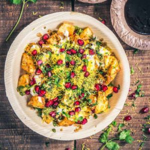 A tangy assemblage of crisp, cubed potatoes, masalas, chaat masala and sweet, pungent chutneys, Aloo Chaat reminds you of the flavours of Chandni Chowk.