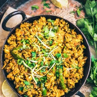This Karahi Chicken Keema dish which is a medley of onion, tomatoes, spices and chicken keema can be served along with both rice and roti.