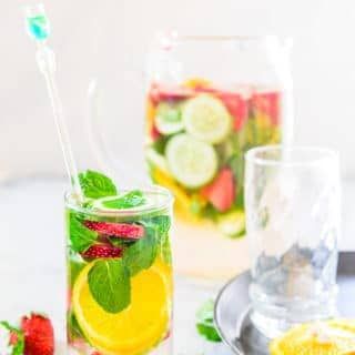 Strawberry Cucumber Detox Water not only helps maintain your health but also has beauty benefits as it detoxifies your body.