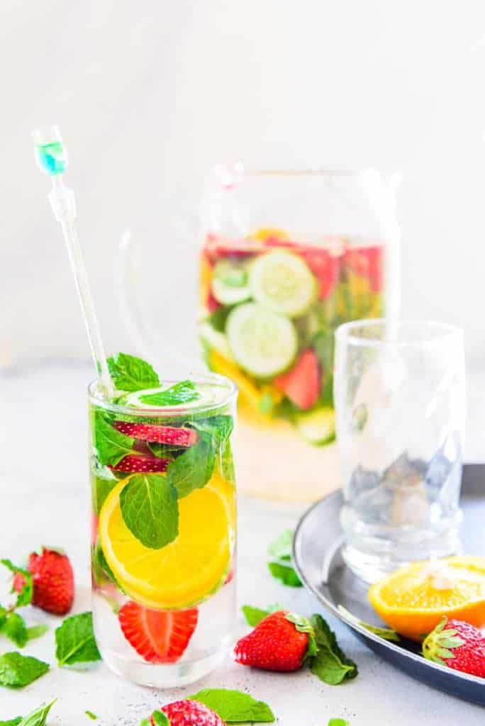 Strawberry Cucumber Detox Water Recipe, How to make Strawberry Cucumber Detox water