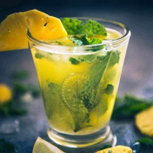 Virgin Pineapple Mojito is a refreshing drink made using mint, lime, fresh pineapple juice and club soda and is perfect as summer cooler.
