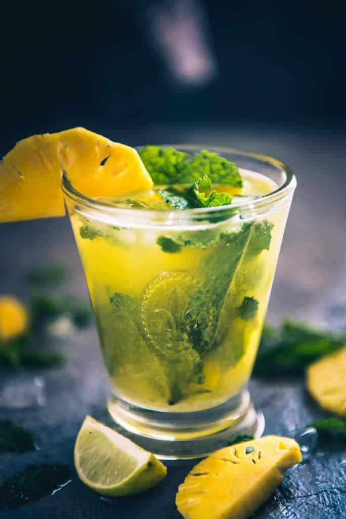 Virgin Pineapple Mojito Recipe, How to make Virgin Pineapple Mojito