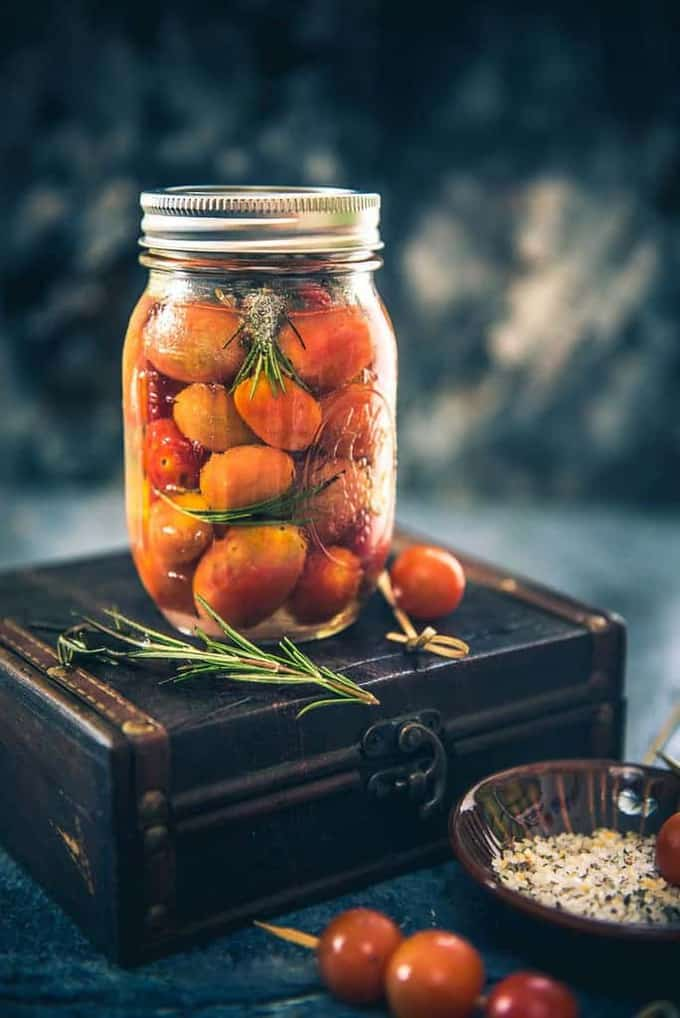 Vodka Infused Tomatoes are a very innovative snack that you can serve for house parties and I can vouch that your guests will be a happy lot.