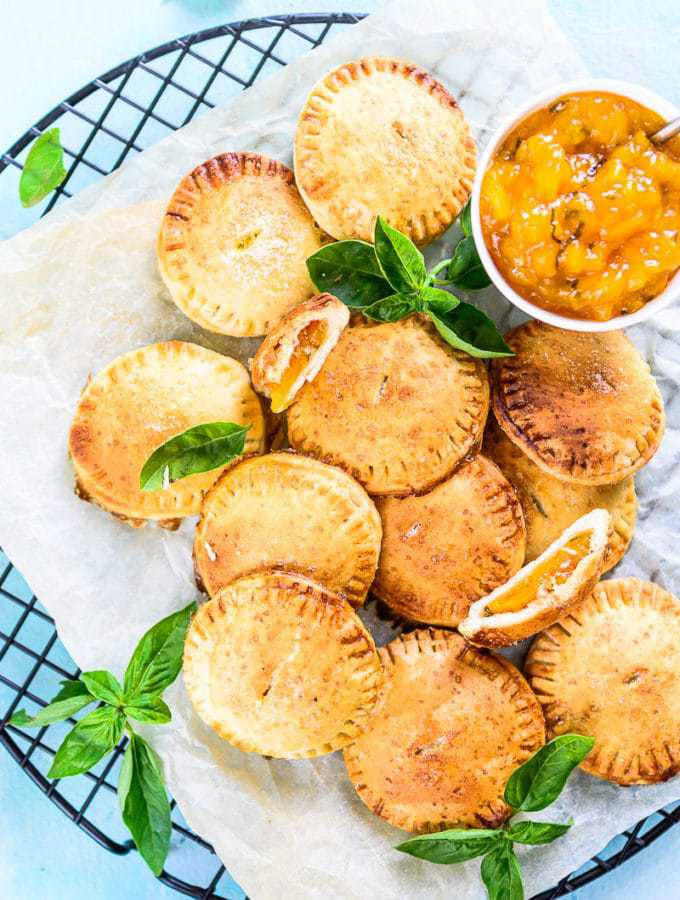 Basil Peach Basil Hand Pie Recipe is a delicious, easy to make dessert with the flakiest crust and soft gooey filling. Here is a simple recipe to make it.