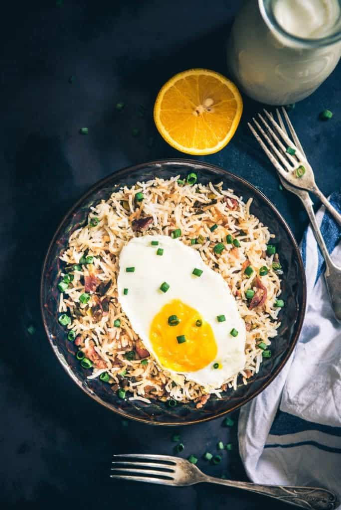Step By Step Breakfast Bacon Fried Rice Recipe, How to make Breakfast Bacon Fried Rice Recipe