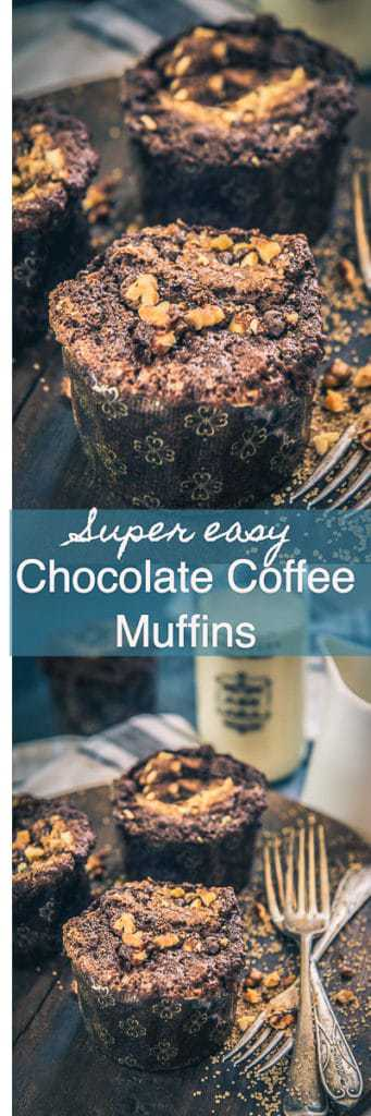 These Chocolate Coffee Muffins are deliciously soft & moist and the best part is that these are super easy and simple to make as well. Pair them with your daily espresso coffee or serve them in breakfast. Chocolate I espresso I Coffee I Muffins I Breakfast I Easy I Simple I One Bowl I Recipe I No Clean I