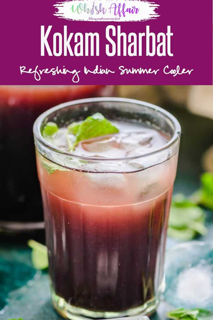 Kokum sharbat or kokum juice is a popular Goan summer coolant drink which is perfect to sip on warm summer days as it is very refreshing. #Indian #DRink #Beverage #Healthy #Summer #Cooler