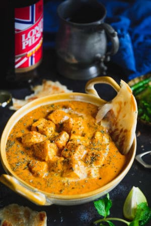 Paneer Butter Masala served in a bowl.