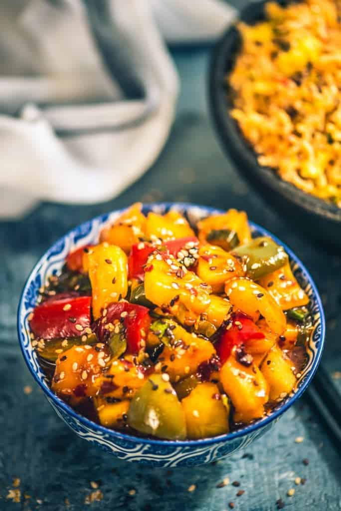 Sesame Pineapple Pepper Fry Recipe, How to make Sesame Pineapple Pepper Fry