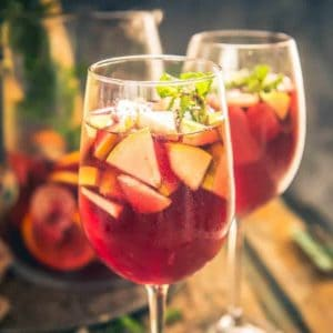 Red Wine Sangria Recipe or Red Sangria Recipe is a traditional drink from Spain where Red Wine is mixed with fruits, brandy and soda.