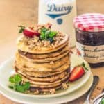 Fluffy, delightful and super finger-licking, this Strawberry Pancakes Recipe brings the choicest flavours of strawberries and the nutrition of granola to the table.