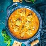 Mutton Keema Kofta Curry Recipe or Mutton Keema Ball Curry Recipe is a delicious curry made using raw mutton mince simmered in a spicy grav