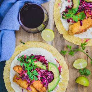 Crispy Fish Tacos with Cabbage Slaw