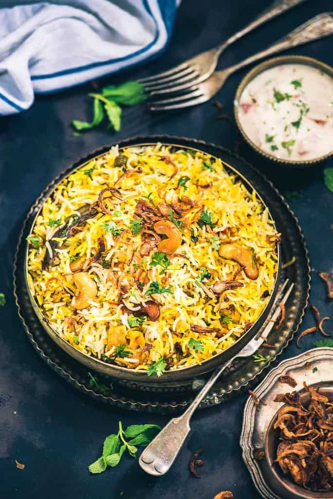 Hyderabadi vegetable dum biryani recipe whiskaffair hyderabadi vegetable dum biryani restaurant style veg dum biryani recipe how to make veg forumfinder Choice Image