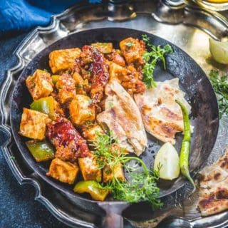 Restaurant Style Kadai Paneer + Video