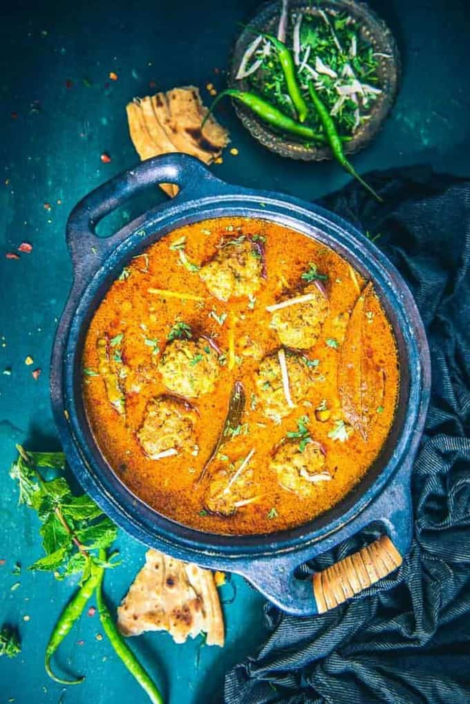 Mutton Keema Kofta Curry Recipe I Mutton Keema Ball Curry Recipe