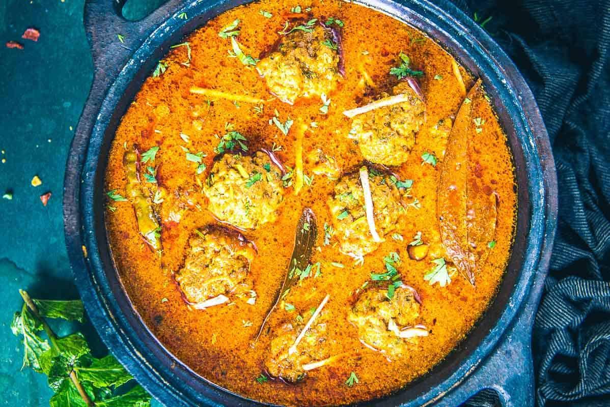 Mutton Keema Kofta Curry Recipe I Mutton Keema Ball Curry ... |Mutton Kofta Recipe