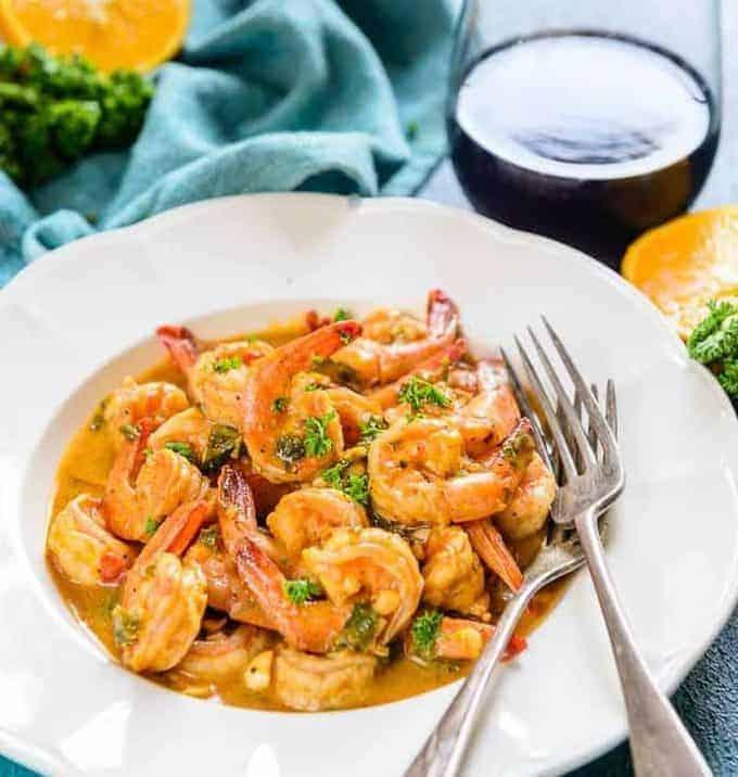 orange garlic prawns recipe, orange garlic shrimp recipe, garlic prawns, spicy orange garlic shrimps, shrimp with orange juice, pf chang's orange shrimp recipe, orange juice shrimp marinade