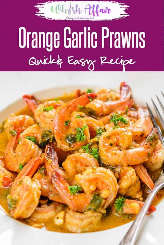 Orange Garlic Prawns, Garlic prawns are flavourful and buttery and with a subtle flavour of oranges. These can be had as snacks or paired with rice. Snacks I Appetiser I appetizer I Prawns #Shrimps #Butter #Garlic