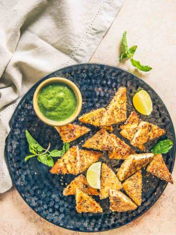 Sesame Grilled Paneer is a delicious and healthy snack or party appetiser option which can be made in a jiffy.