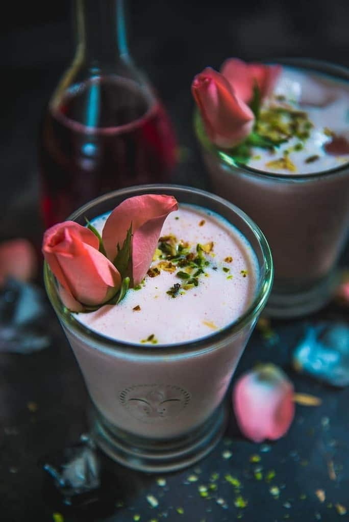 Rose Lassi Recipe, How to make Rose Lassi, Lassi Recipe, rose lassi drink recipe, rose lassi calories, amul rose lassi, how to make lassi.