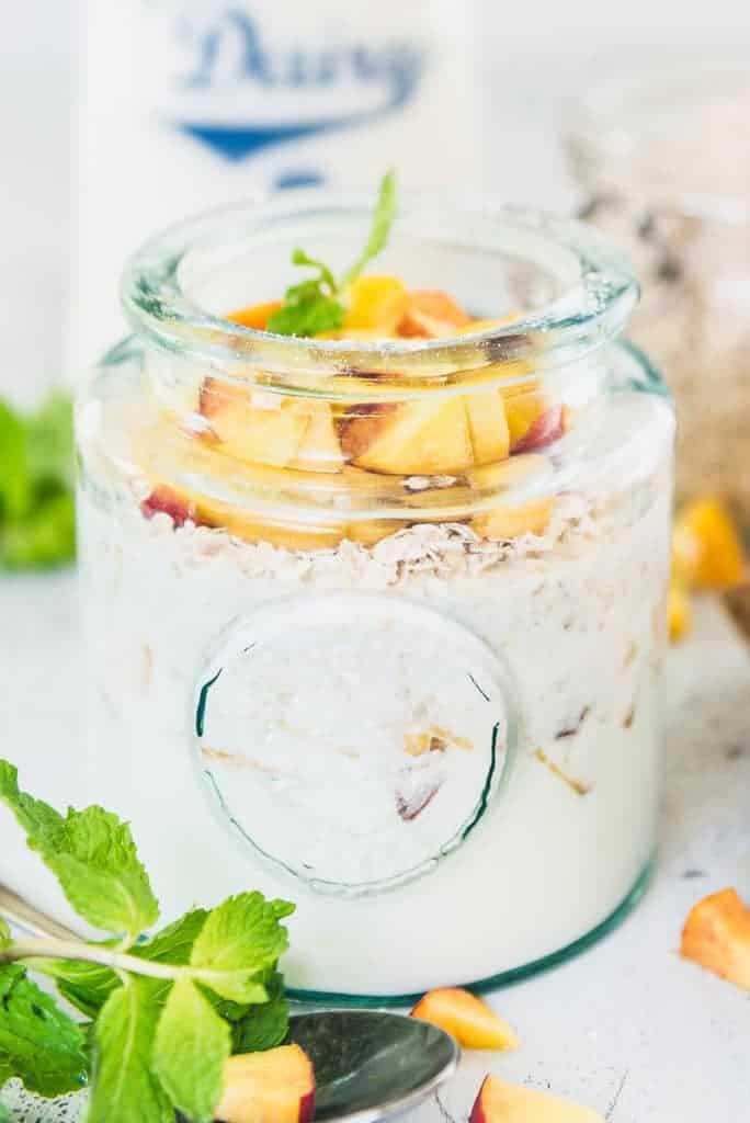 Peach Pie Overnight Oats Recipe  – Healthy Breakfast Recipes
