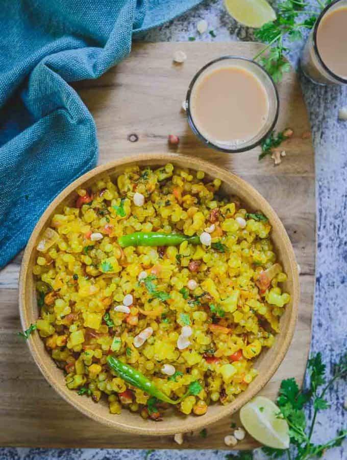 Spicy Sabudana Khichdi Recipe, How to make Sabudana Khichdi, maharashtrian sabudana khichdi recipe, how to make sabudana khichdi non sticky, sabudana upma recipe, how to soak sabudana