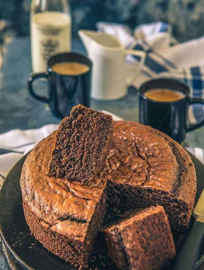 Spongy Eggless Chocolate Cake Recipe, moist eggless chocolate cake recipe, eggless chocolate sponge cake,