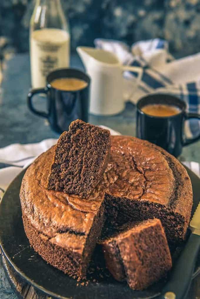 Spongy Eggless Chocolate Cake Recipe I Eggless Chocolate Sponge Cake – Video Recipe