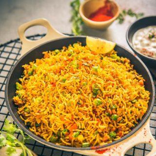 Mumbai Style Tawa Pulao Recipe
