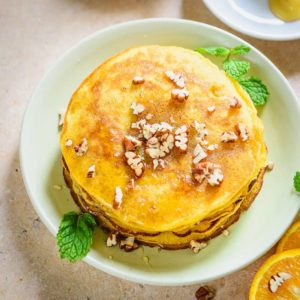Step by Step and Video instructions to make Healthy Whole Wheat Orange Pancakes Recipewhich is a wonderful choice for breakfast and is super easy to make.