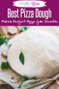 Super simple to make, Best Homemade Pizza Dough Recipe allows you to make the freshest, yummiest and filling pizza bread for all your sudden cravings! #Homemade #Pizza #Dough #best #Perfect #easy #ThinCrust