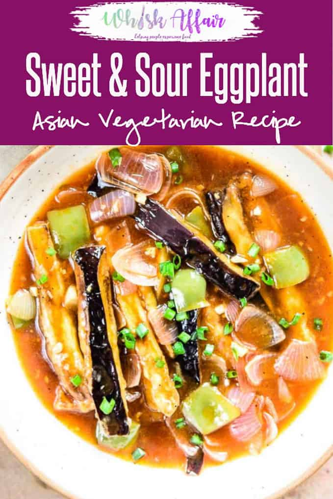 Chinese Sweet and Sour Eggplant Recipe is a flavourful and easy to cook main which you can serve with rice for a nice hearty meal. Here is a step by step recipe to make it. Chinese I Eggplant I brinjal I Easy I simple I quick I perfect I Main I course I Food I photography I Styling I
