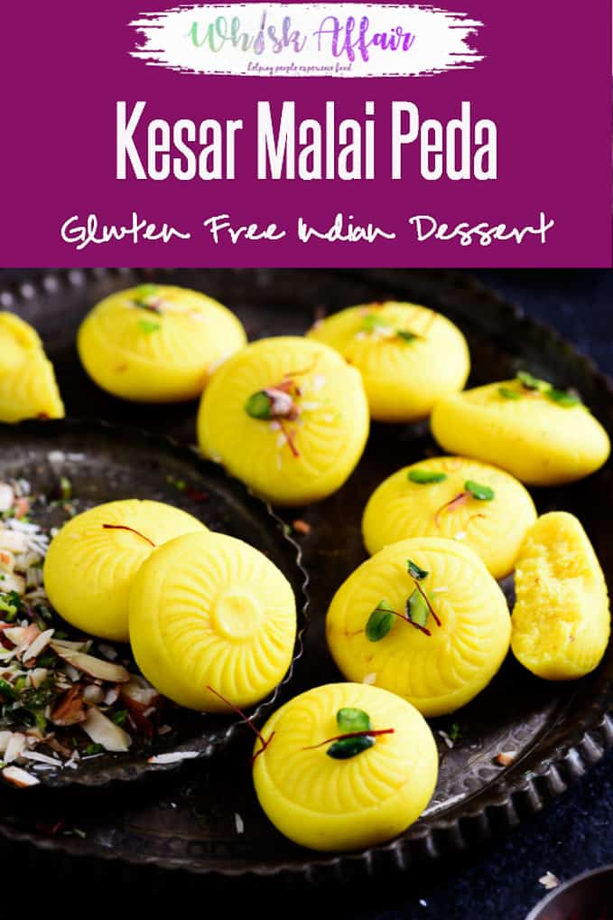 Kesar Malai Peda is a favorite sweet with people, and its softness and mild flavor make it very delectable. Indian, sweet, dessert, falahari, vrat, fast, fasting, Indian, festival, easy, homemade, best