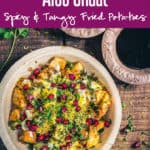 A tangy assemblage of crisp, cubed potatoes, masalas, chaat masala and sweet, pungent chutneys, Aloo Chaat reminds you of the flavours of Chandni Chowk.#Indian #Snack #Appetizer #Chaat #Potato #Homemade