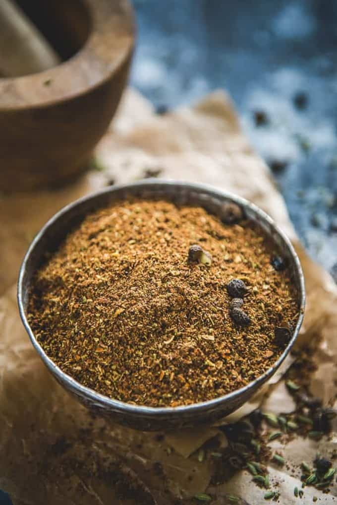 Kerala Garam Masala served in a bowl.