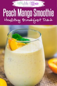 Healthy Peach Mango Smoothie Recipe is a delicious and healthy choice to have for breakfast. Make it in regular milk if Almond milk is not available. Healthy I vegan I frozen I Low fat I easy I simple I best I breakfast I recipe I food I photography I drink I beverage I#PeachRecipes #MangoRecipes #SmoothieRecipes
