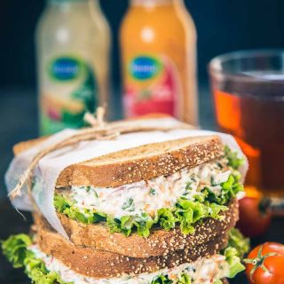 Vegetable Hung Curd Sandwich