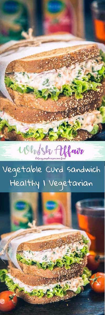 All in all, healthy, creamy and fresh veggies loaded treat, Vegetable Curd Sandwich Recipe is a must try for quick meals and breakfast. Here is how to make it. #Sandwich #Healthy #Snack #Breakfast #Vegetarian
