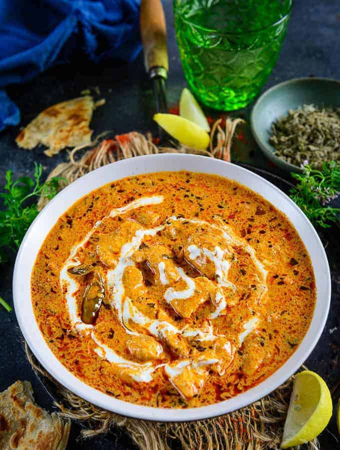 Chicken Tikka Masala served in a bowl.