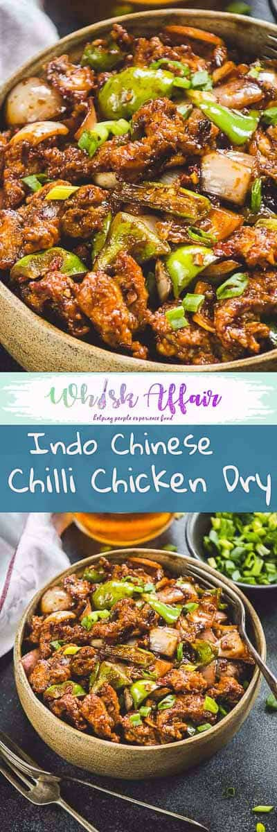 Essentially speaking, Indo Chinese Chilli Chicken Dry is a nice saute of spices, sugar, sauces and boneless chicken cooked till perfection. #IndoChinese #Chicken #Asian