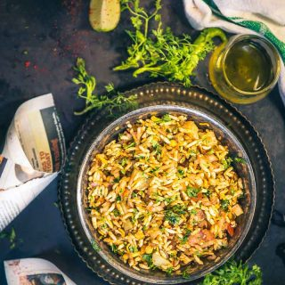 Jhal Muri is a popular street food of Kolkata made using puffed rice. The pungent taste of raw mustard oil makes it quite unique.