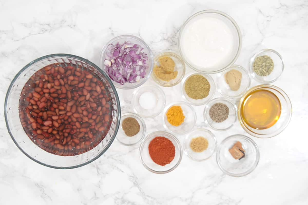Kashmiri Rajma Ingredients