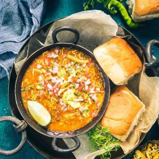 Mix Beans Misal Pav Recipe