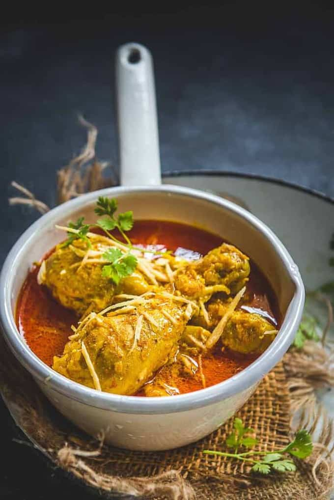 Indian Ginger Chicken Curry or Adraki Murgh is a spicy chicken curry with bold flavours of Ginger.