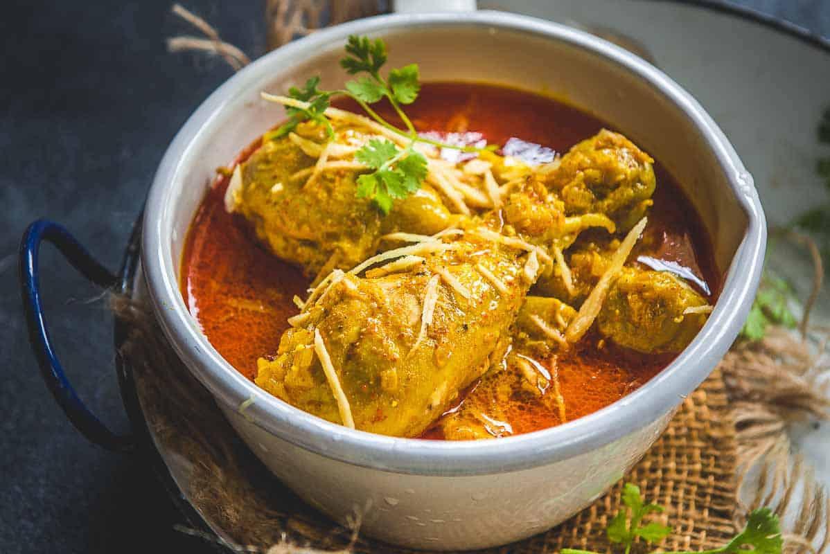 Ginger Chicken Curry Recipe Chicken Adraki Whiskaffair
