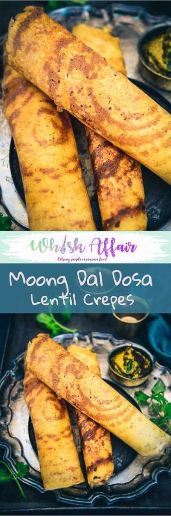 Moong Dal Dosa is an incredibly healthy version of the regular dosa that we make in India. Do serve it with your favourite bowl of chutney and sambhar. #BreakfastRecipes #HealthyRecipes #LentilRecipes