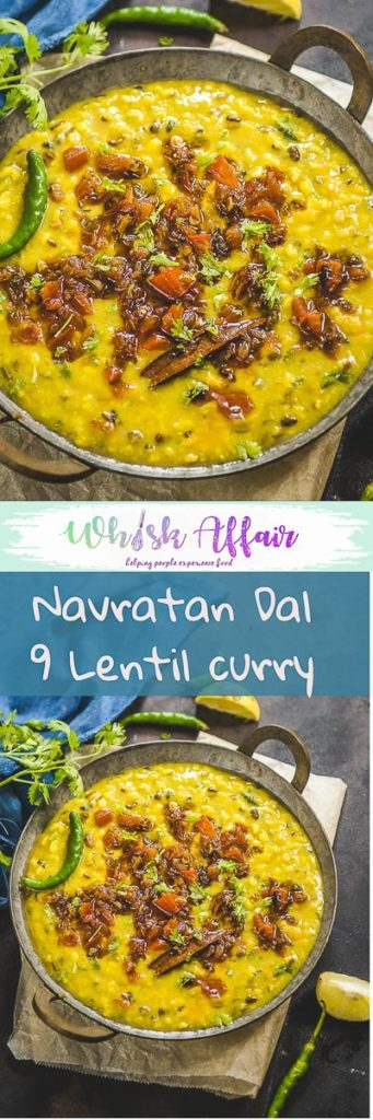 Navratan Dal as the name says is a lentil based recipe prepared using nine different kind of dals. Serve it zeera rice and laccha parathas. #lentil #Recipe #Indian